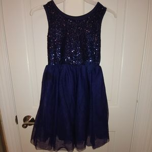 The Children's Place Navy sequin holiday dress - 8